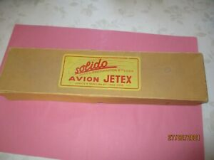 SOLIDO TRES RARE AVION JETEX  JOUETS A REACTION