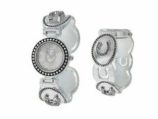 HORSE & WESTERN JEWELLERY JEWELRY  LADIES HORSESHOES CUFF WATCH - SILVER
