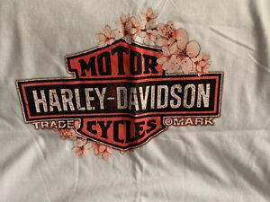 Harley Davidson womens plus size 2X White Natl Harbor Washington DC T Shirt NWT