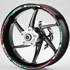 Aprilia Tuono V4 1000   Italian flag wheel rim graphics x 12