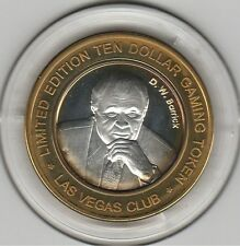 2005 Las Vegas Club DW Barrick .999 Fine Silver $10 Casino Token