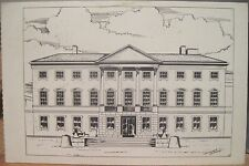 Irish Postcard DAIL EIREANN Leinster House Dublin Ireland Daniel Grace Illus Prf