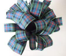 25mm Berisfords Tartan Ribbon 17 Tartans, 4 Lengths 1, 2, 5,  Mtrs Free P&P