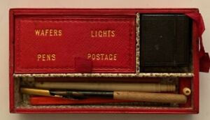 Very scarce Victorian Scottish leather-bound travelling writing set in a fine qu