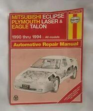1990 1991 1992 1994 MITSUBISHI ECLIPSE PLYMOUTH LASER EAGLE TALON REPAIR MANUAL