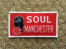 Vintage 1980's NORTHERN SOUL Patch Badge Mods SOUL MANCHESTER Music Scooter