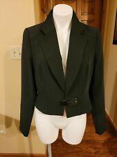NWT White House Black Market Black Equestrian Cropped Professional Jacket  10