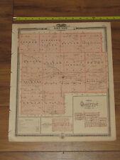1875 Atlas - Grundy & Hardin County, Reversable Iowa Map ORIGINAL - falls center