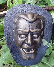 "Dracula plastic mold  7"" x 5"" x 2"" Hallowen concrete plaster mold mould"