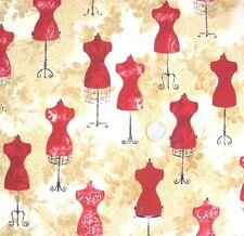 ❤ GRAND COUPON TISSU PATCHWORK  MANNEQUINS COUTURE 45X110CM
