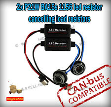 * 2 x P21W 1156 LED Canbus RESISTORE Plug and Play AUDI b7 RS4 DRL diurna