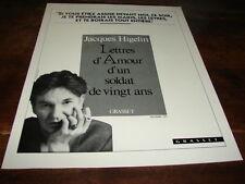 JACQUES HIGELIN - PUBLICITE LETTRES D'AMOUR !!!!!!!!!!