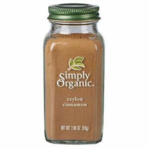 Simply Organic Ground Ceylon Cinnamon Certified Organic Vegan | 2.08 Ounce | ...