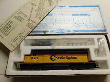 HO Scale - GSB - Chessie System B&O SD40-2 Powered Diesel Locomotive Train