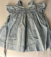 Vintage Polly Finders Dress Size 9 m Smocked Pink Blue  Argyle Girls Baby Collar