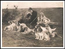 Petit Basset Griffon Vendeen Huntsman And Dogs Vintage Style Dog Print Poster