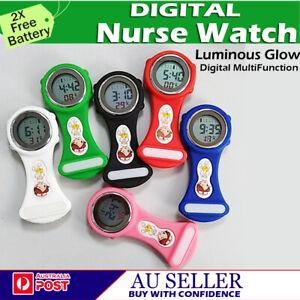 Electric Digital Multi-Function Medical Nurse Brooch Pendant Pocket Fob Watch AU