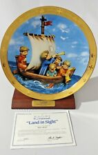 M.J Hummel Danbury Mint Collector Plate Land In Sight Columbus Discovery 1992