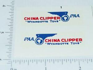 Wyandotte China Clipper Airplane Sticker Set       WY-008
