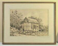 """Kirchner Vintage (1976) Original Ink-""""Bonds Barn"""""""