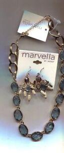 MARVELLA BLUE SCALLOPED necklace earrings set