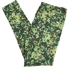 Lularoe TC Tall and Curvy Leggings NEW NWOT Yoga Green Floral