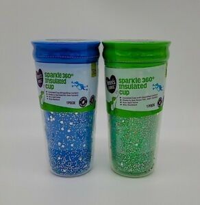 Sparkle 360 Non-Spill Insulated Kids Cup 12+ Months (Green or Blue)