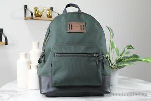 Coach (F27609) Cordura West Large Men's Nylon Racing Green Backpack Book Bag