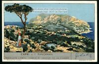 Panoramic View Of Island Of Capri  Italy 1930s Trade Ad Card