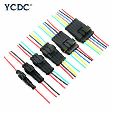 1/2/3/4/5/6 Pin Way Car Waterproof Electrical Connector Plug With Wire 18 AWG F