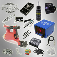 Complete Tattoo Kit Professional Inkstar 1 Machine VENTURE ROTARY Set GUN Black