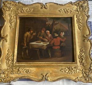 Dutch School 19th Century Oil On Zinc With Ornate Gilded Frame By EW Savory