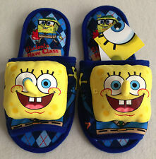 SPONGEBOB SQUAREPANTS Plush Slippers Shoes Sandal Size UK 4-8, EU 36-42, US 6-10