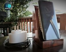 Qi wireless charger Iphone 8/x/plus ,Samsung S8/+/s7/s6 handmade wood/leather