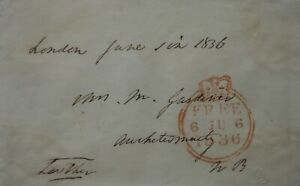 Free Front: 1836 to Auchtermuchty from William Lowther, 2nd Earl of Lonsdale.