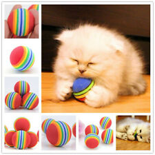 New 2Pcs Funny Alive Dog Cat Kitten Weasel Jumping Moving Rolling Pet Ball Toy n