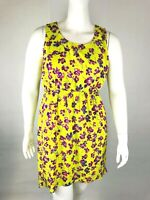 Daisy Fuentes Womans Dress Sz Large Floral High Low Sleeveless Multi-Color