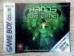 Manual Only Nintendo Game Boy Color Hand Of Time Booklet Instruction Fr
