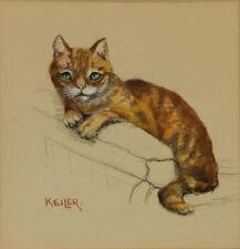 Abstrakte künstlerische Malerei von Katzen von 1900-1949 auf Tier