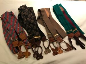 4 Pair Lot Vintage / Braces Suspenders