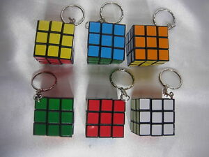 12 Puzzle Cube  Keyring For Children Party Loot Gift Bag Fillers