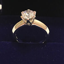 2 CT ROUND CUT DIAMOND SOLITAIRE ENGAGEMENT RING WHITE GOLD Finish Size 4.5