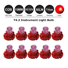 10 X Red T4/T4.2 Neo Wedge SMD LED Twist Lock LCD Dash Cluster VT VX 10MM DC 12V