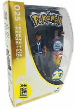 Pokemon 20th Anniversary Pikachu and Ash Figure Set SDCC 2016 by TOMY