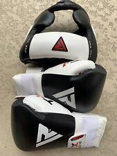 RDX Headgear Sparing Training MMA Boxing Face Helmet Large & BGL T1 14 oz Gloves