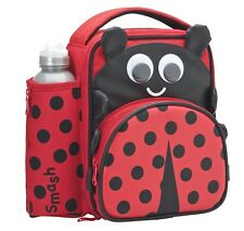 Smash 3d Ladybird Insulated Lunch Bag and 500ml Bottle- Red