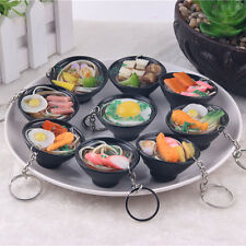 Simulation Food Noodles Bowl Key Chain Ring Keyring Charm Pendant Purse Keychain