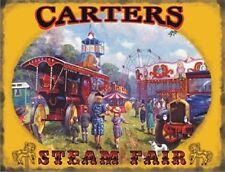 More details for carters steam fair large steel sign 400mm x 300mm (og)