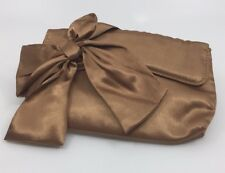 Vintage Brown Satin Purse Clutch Bag Immaculate Condition