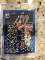 2018-19 Donruss Optic Basketball Blue Velocity Prizm #100 Nikola Jokic Nuggets